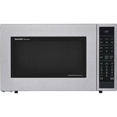 "25"" 1.5 cu.ft. Countertop Microwave Color: Stainless Steel"