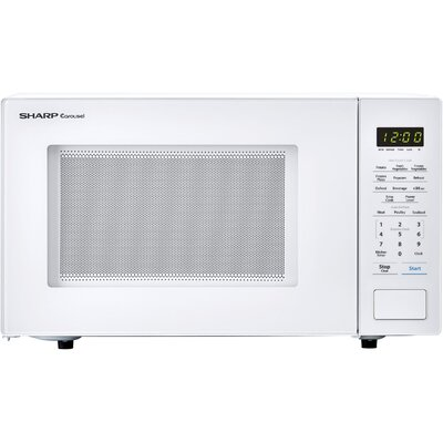"Carousel 20"" 1.1 cu.ft. Countertop Microwave Color: White"