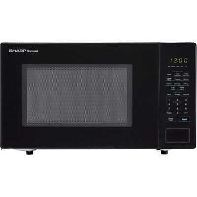 "Carousel 20"" 1.1 cu.ft. Countertop Microwave Color: Black"