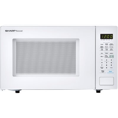 "Carousel 21"" 1.4 cu.ft. Countertop Microwave Color: White"