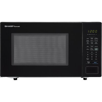 "Carousel 21"" 1.4 cu.ft. Countertop Microwave Color: Black"