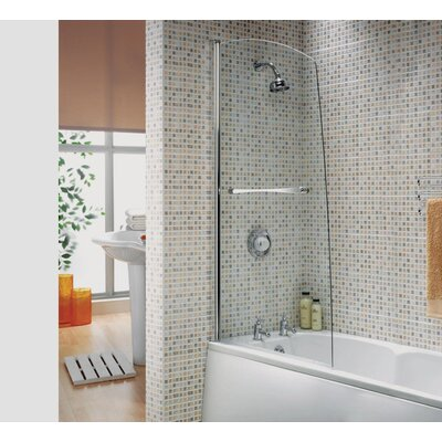 Aqualux AQUA 5 150cm x 82cm Hinged Bath Screen