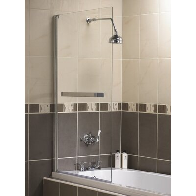 Aqualux 137.5cm x 75cm Hinged Bath Screen