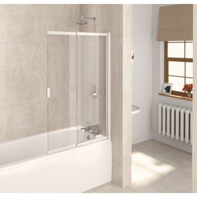Aqualux 127.5cm x 82cm Sliding Bath Screen