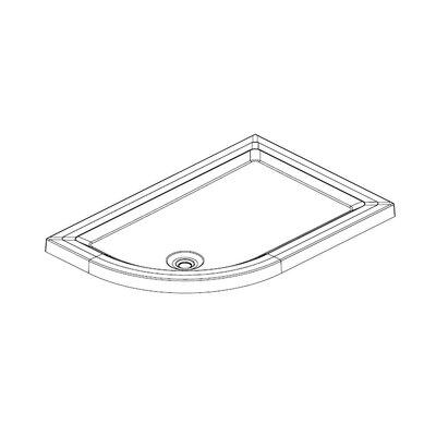 Aqualux Aqua 55 Shower Tray in White