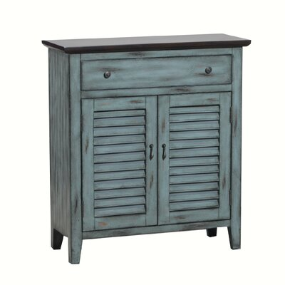 Pinkley Tone Shutter 2 Door Accent Cabinet