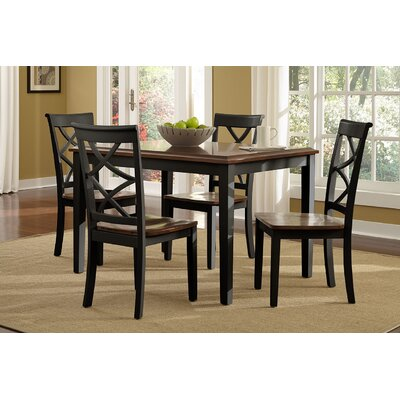 Hagerstown 5 Piece Dining Set Finish: Black and Cherry