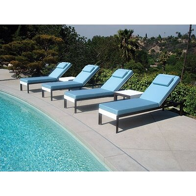 Modern Outdoor Etra Lounge Chaise Lounge with Cushion
