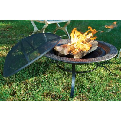 """Steel Charcoal Fire Pit Size: 30"""""""
