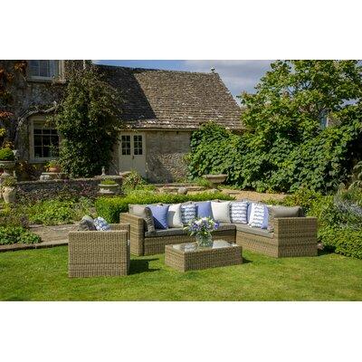 Bramblecrest Sahara 7 Seater Sectional Sofa Set with Cushions