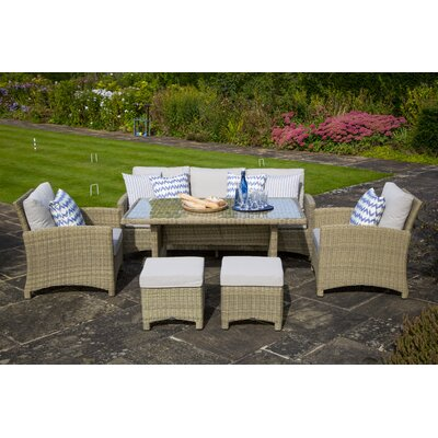 Bramblecrest Cotswold 7 Seater Sofa Set with Cushions