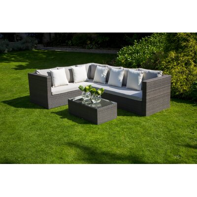 Bramblecrest Rio 5 Seater Sectional Sofa Set with Cushions