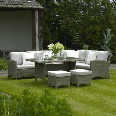 Bramblecrest Cotswold 8 Seater Sectional Sofa Set with Cushions