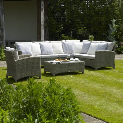 Bramblecrest Cotswold 6 Seater Sectional Sofa Set with Cushions