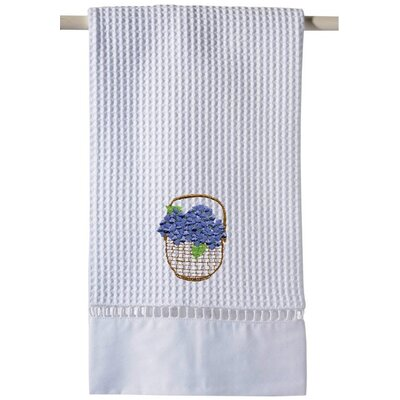 Blue Waffle Weave Guest 100% Cotton Hand Towel