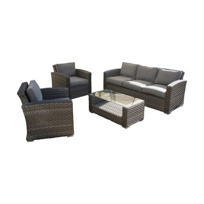 Maze Rattan Victoria 5 Seater Sofa Set with Cushion