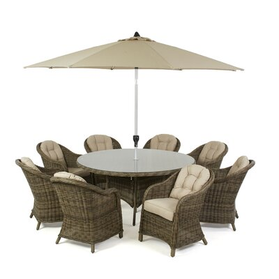 Maze Rattan Winchester 8 Seater Dining Set with Cushions