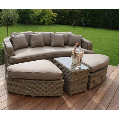Maze Rattan Milan Daybed with Cusions