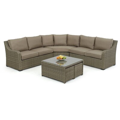 Maze Rattan Milan 7 Seater Sectional Sofa Set with Cushions
