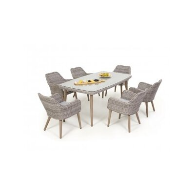 Maze Rattan Paris 6 Seater Dining Set