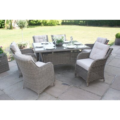Maze Rattan Winchester 6 Seater Dining Set with Cushions