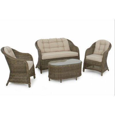 Maze Rattan Winchester High Back 4 Seater with Cushions