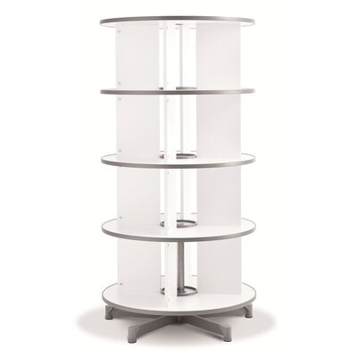 """One Turn Binder and File Carousel 62"""" H Four Tier Shelving"""