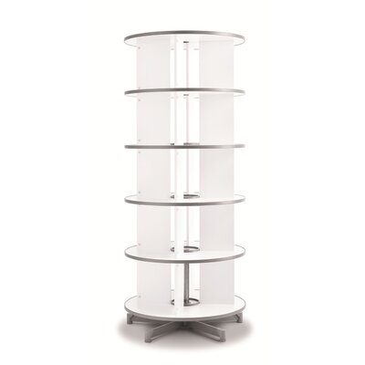 """One Turn Binder and File Carousel 76"""" H Five Tier Shelving Unit"""