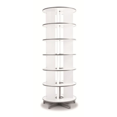 """One Turn Binder and File Carousel 90"""" H Shelving Unit"""