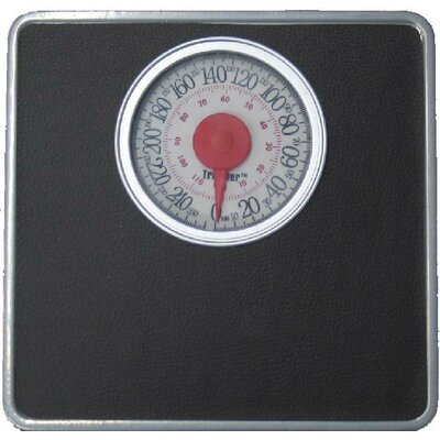 Trimmer Silver Frame Mechanical Bathroom Scale with Round Display