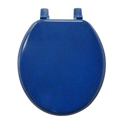 Molded Wood Round Toilet Seat Finish: Cobolt Blue
