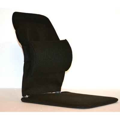 Seat Back Cushion with Adjustable Lumbar Support Finish: Black