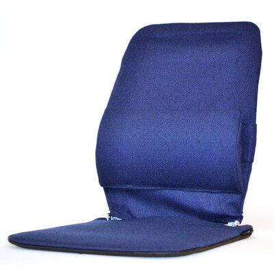 Seat Back Cushion with Adjustable Lumbar Support Finish: Blue