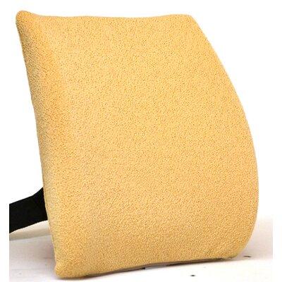 Memory Foam Back Cushion with Adjustable Belt Finish: Pebble