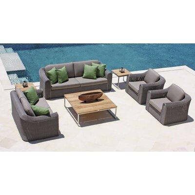 SkyLine Design Calderon 5 Seater Sofa Set with Cushions