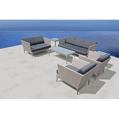 SkyLine Design Brafta 5 Seater Sofa Set with Cushions
