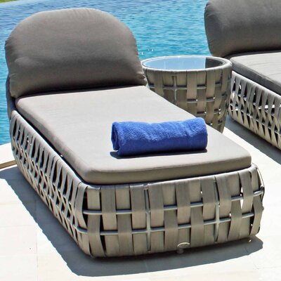 SkyLine Design Strips Lounger with Cushion