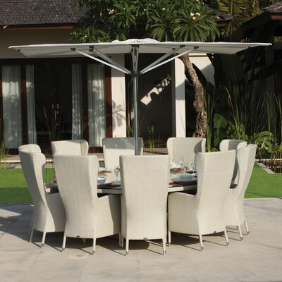 SkyLine Design 3m Tahiti Zero Horizon Square Market Parasol