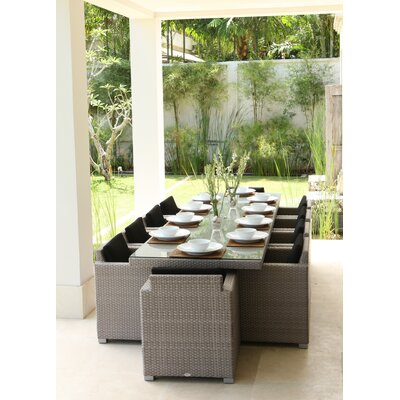 SkyLine Design Pacific 10 Seater Dining Set with Cushions