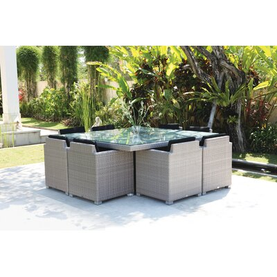 SkyLine Design Pacific 8 Seater Dining Set with Cushions