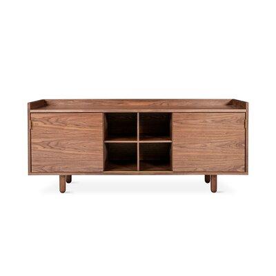 Mimico Cabinet Color: Walnut, Hardware Color: Brass