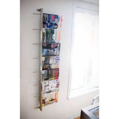 2 Piece Wall Mounted Magazine Rack