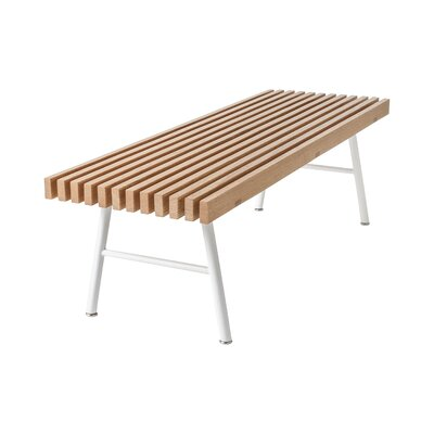 Transit Bench Color: Natural Ash / White