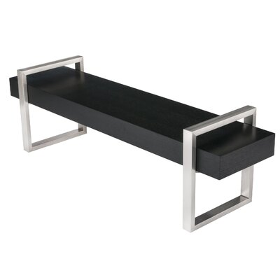 Return Wooden Bench Color: Oak Black