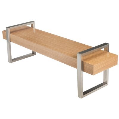 Return Wooden Bench Color: Oak Natural