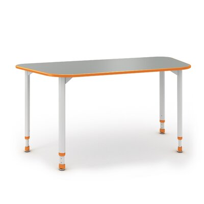 A&D 54'' x 24'' Trapezoidal Activity Table