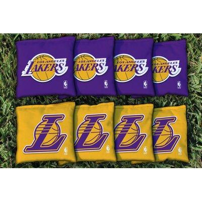 NBA Replacement Corn Filled Cornhole Bag Set NBA Team: Los Angeles Lakers