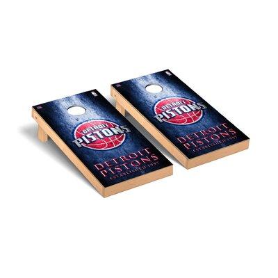 NBA Metal Version Cornhole Game Set NBA Team: Detroit Pistons