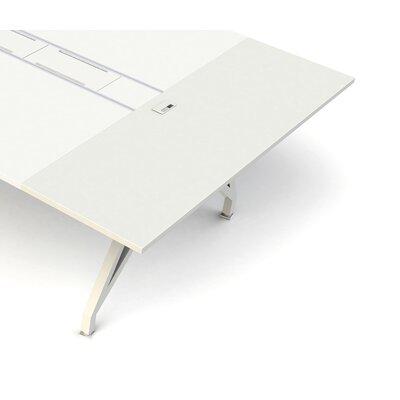 """EYHOV Workstations Accessories 1"""" H Desk Bridge Finish: White"""