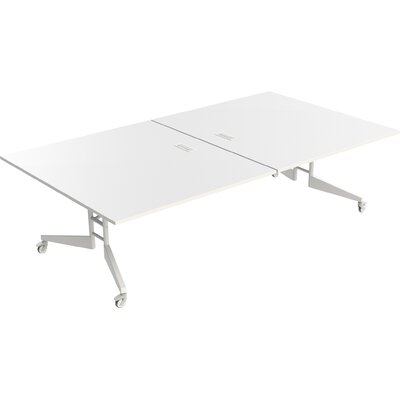 "Nomad Rectangular 30""H x 60""W x 108""L Conference Table Finish: White Matte"